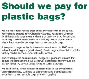 Plastic Bags _SourceNAPLAN